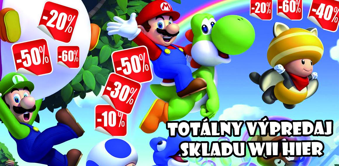 Výpredaj Wii hier